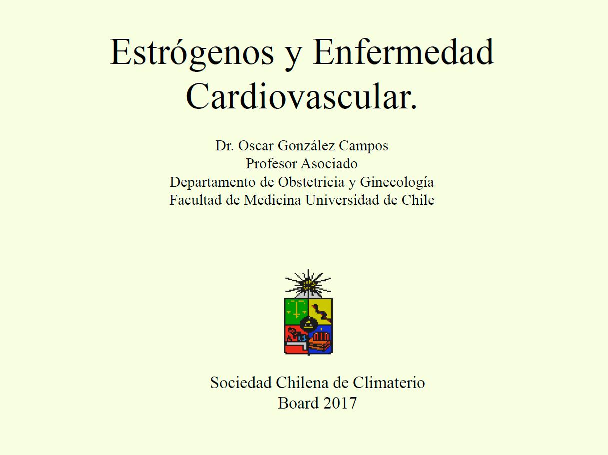 Estrógenos y Enfermedad Cardiovascular.