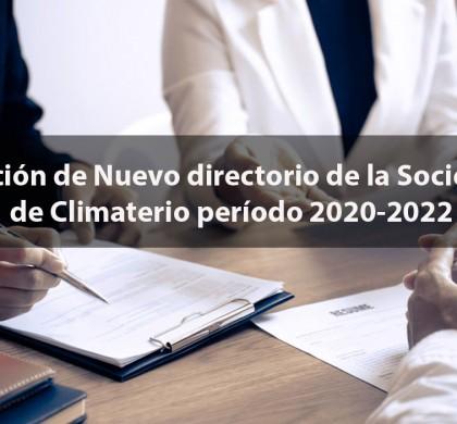 Elección de Nuevo directorio de la Sociedad de Climaterio período 2020-2022