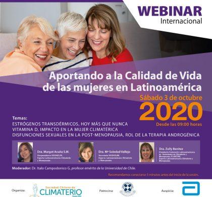 Se viene nuevo webinar: Aportando en la calidad de vida de las mujeres en Latinoamérica